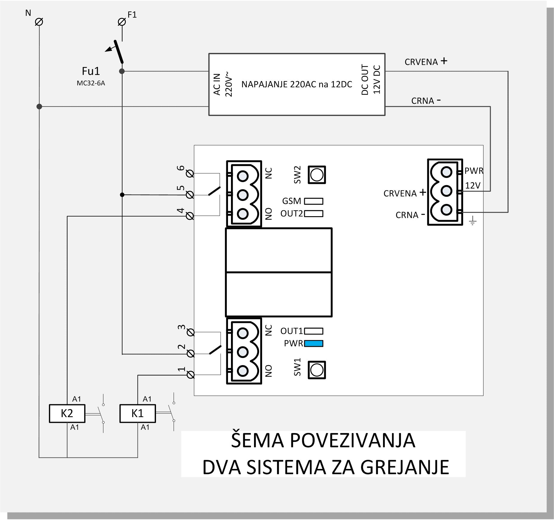 Daljinska kontrola Simpal-T3 sklopni crtez